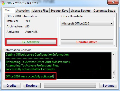 How to install and activate MS Office 10 Pro