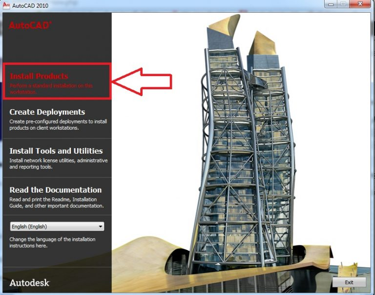 Autocad 2010 detailed installation instructions
