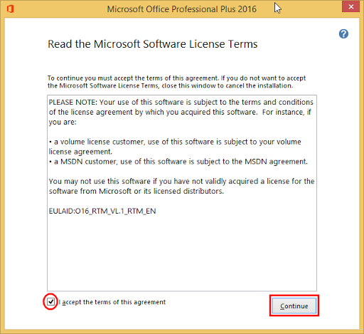 How to install MS office 2016