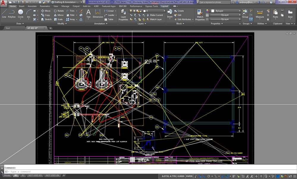 Autocad 2017 overview screen